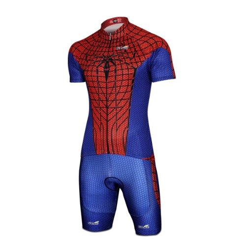 Hot Spider Man Costume Short-Sleeve Biking Cycling