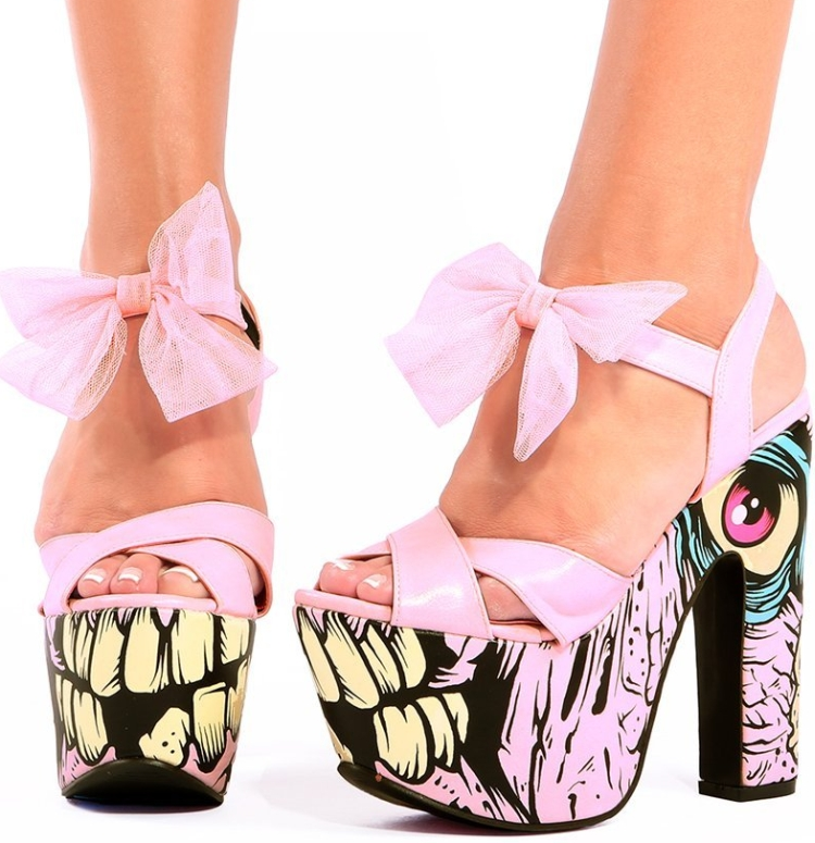 Iron Fist Dance on Your Grave Pink Super Platform Heels