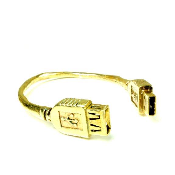 Monserat De Lucca Brass USB Bracelet