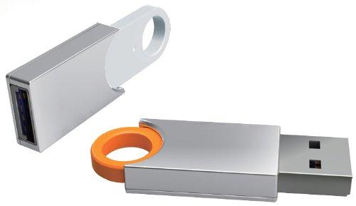 Premium USB 3.0 OrangeSilver USB Flash Memory Drive