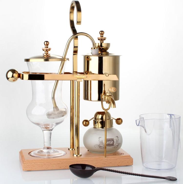 Royal Belgian Balancing Siphon Coffee Maker Gold Polished Brass