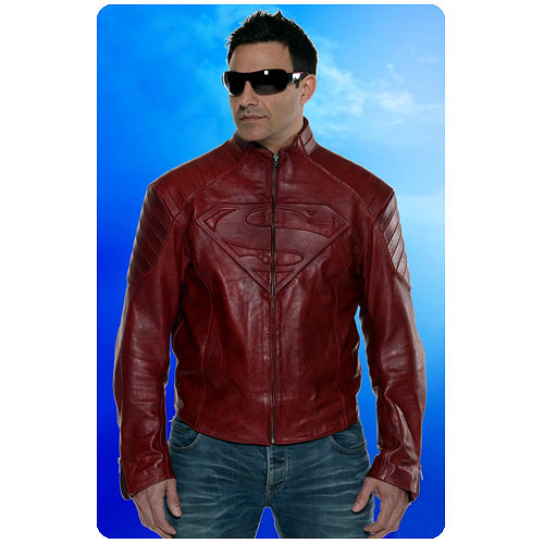 Superman Smallville Leather Jacket Replica
