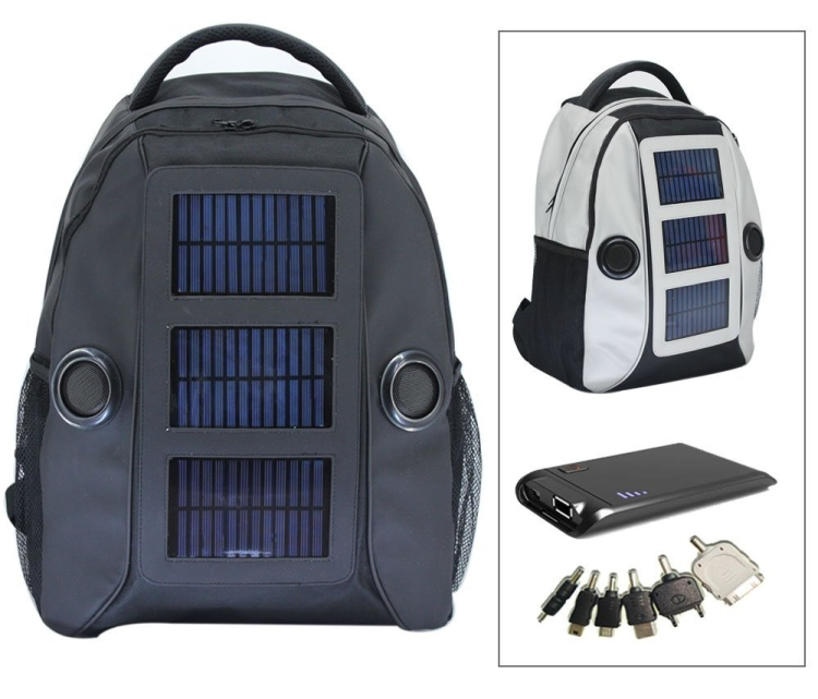 Supermart Solar Backpack with Built-In Speakers