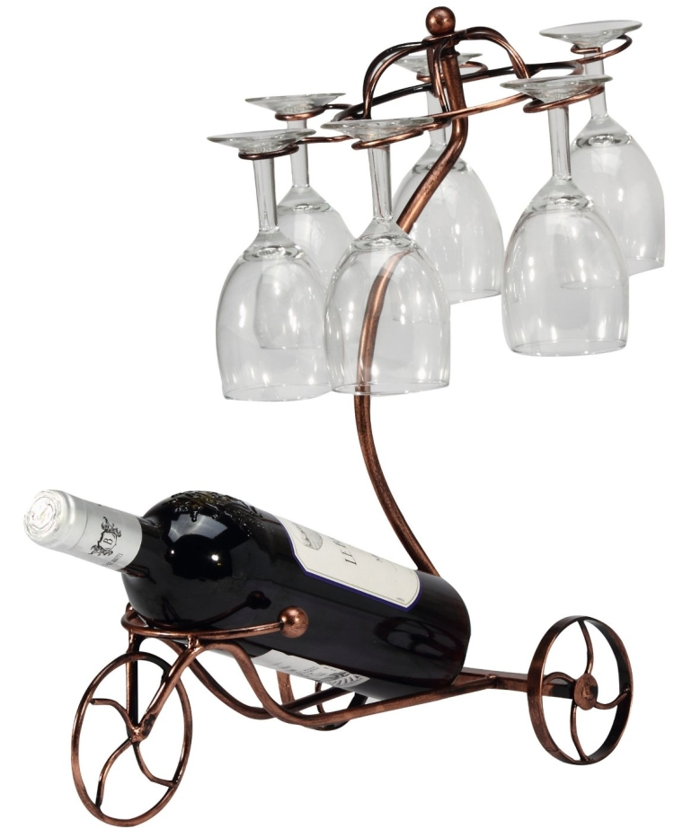 Vintage Parisian Style Bronze Tricycle 6 Wine Glass