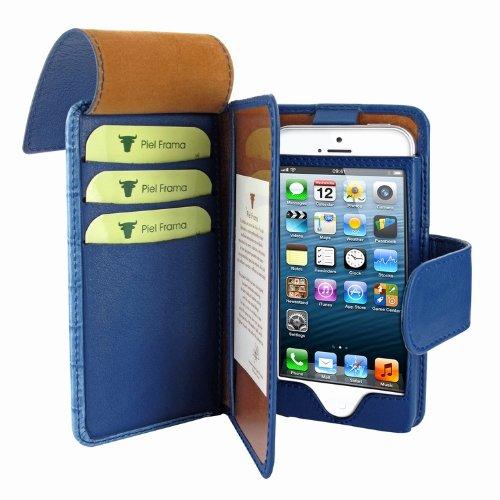 Wallet for Apple Iphone 5 Swarovski Blue