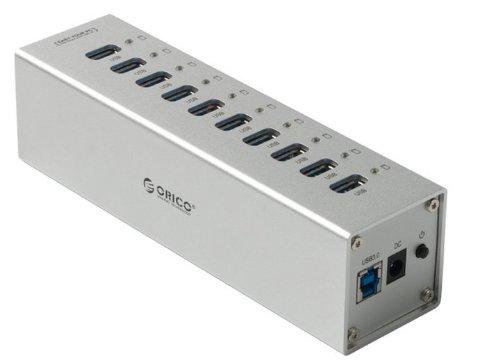 10 Port USB 3.0 HUB with Power Switch Aluminum