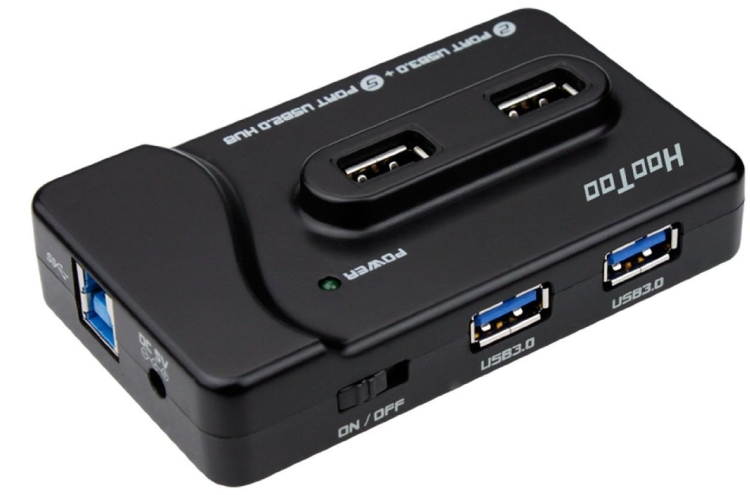 7-Port Hub including One 5V2A Fast-Charging Port for iPad iPhone  Smart Phones