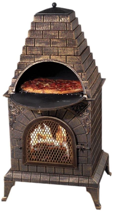 Aztec Allure Cast Iron Pizza Oven Chiminea