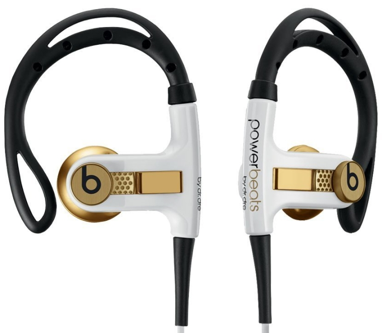 Beats by Dr. Dre Power Beats Lebron Gold Sport Headphones