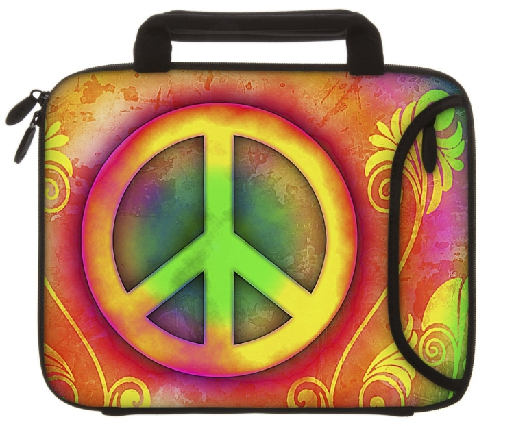 Designer Sleeves Peace Tablet Sleeve with Handles for iPad 234