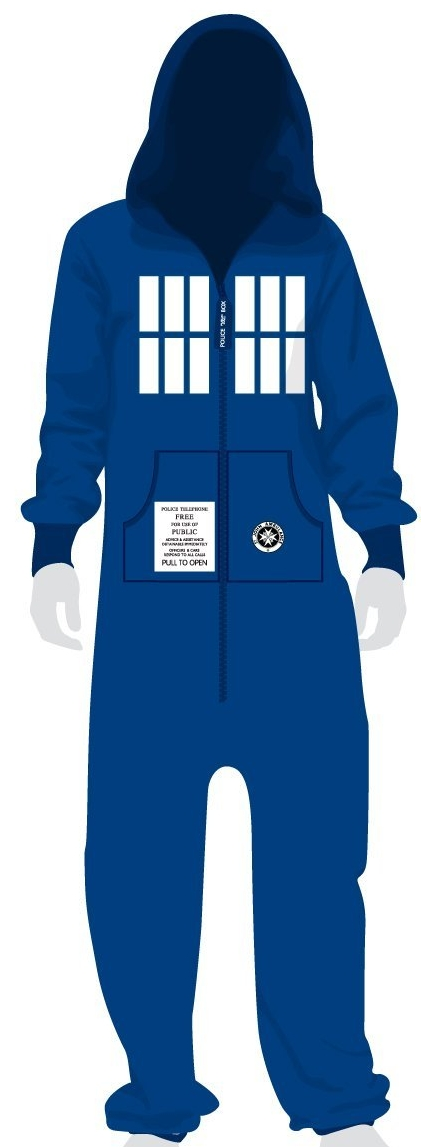 Dr Who Blue Tardis Onesie Jumpsuit for Adults