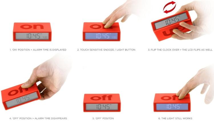 Flip OnOff Alarm Clock ed