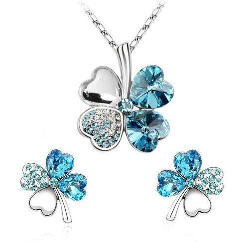 Four Leaf Clovers Set Necklace