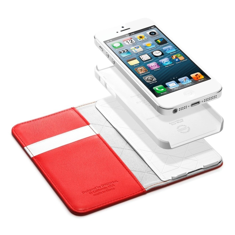 Leather Wallet Snap Case for iPhone 5