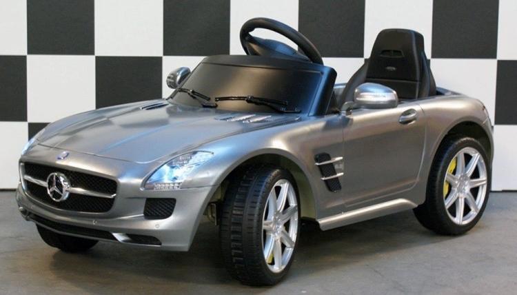 Mercedes SLS AMG Gray pedal car, children s toys