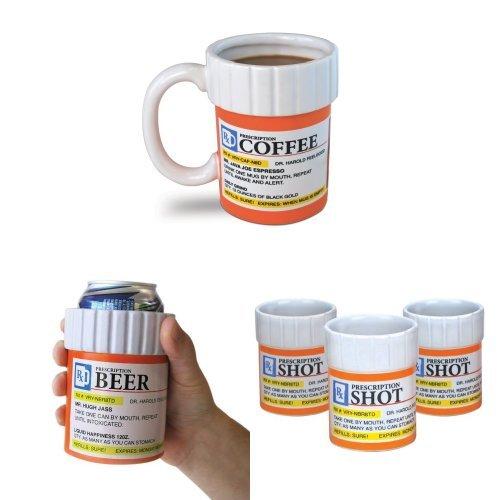 Prescription Mug, Cooler and Shot Glass Bundle