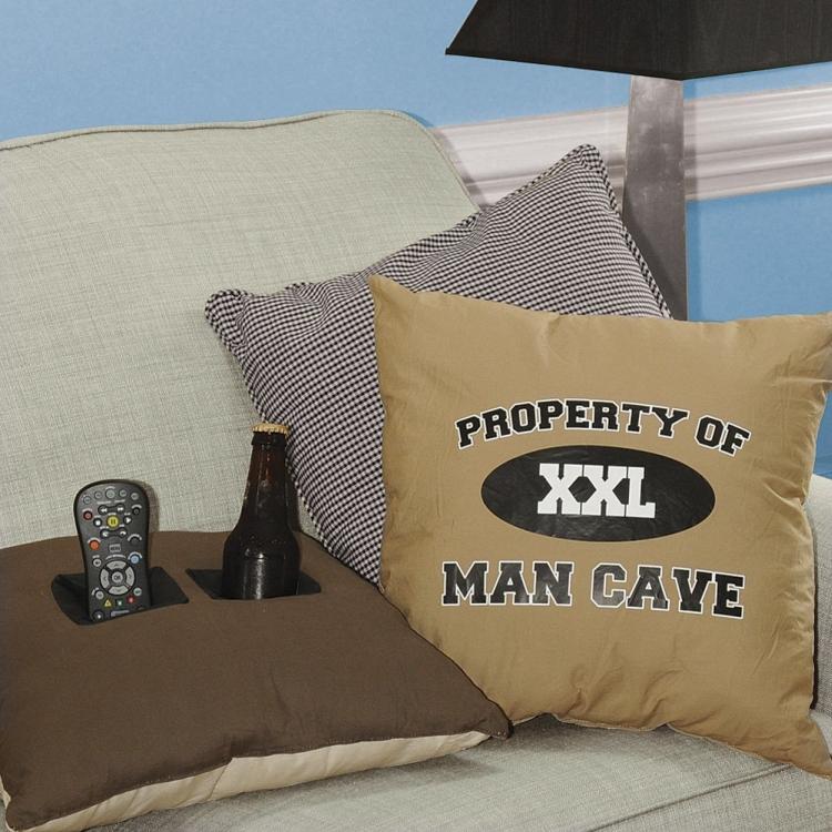 Property of Man Cave Toss Pillows