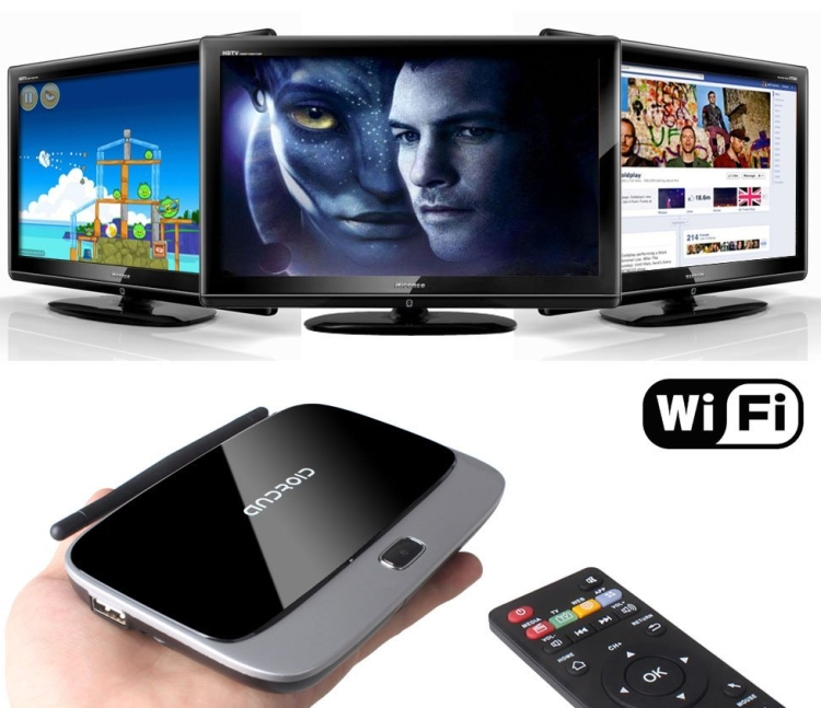 Quad Core Smart TV Box Google Android 4.2.2 RK3188 1.6Ghz HDMI HDD Player