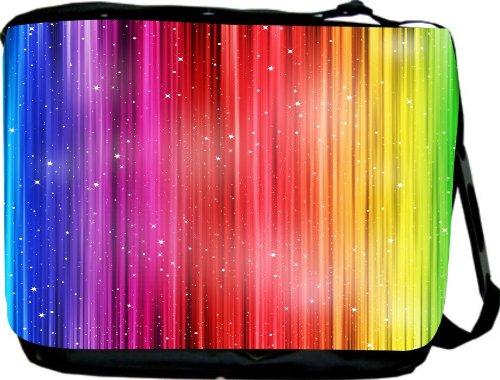 Rainbow Striped Bards Messenger Bag