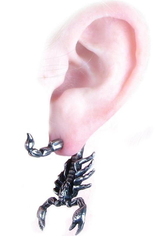 Scorpion Single Ear Stud Earring