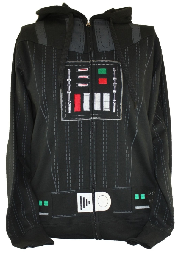 Star Wars Mens Zip Up Costume Hoodie Sweatshirt