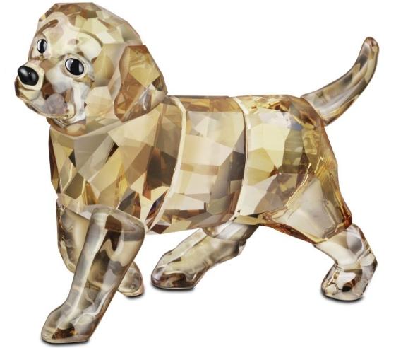Swarovski Golden Retriever Standing Puppy