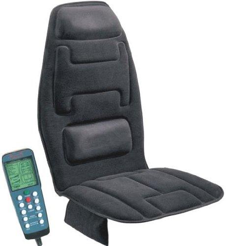 Ten Motor Massaging Seat Cushion in Charcoal Gray
