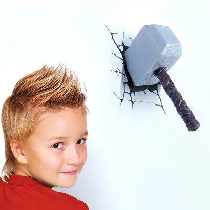 3d Wall Art Thor Hammer Nightlight
