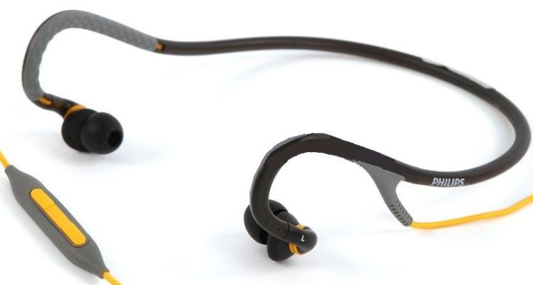 Active Sports Neckband Headphones iPhoneiPod Headset (GrayYellow)
