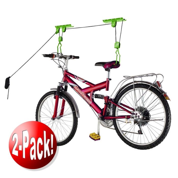Bicycle Storage Lift Bike Hoist 100LB Capacity Heavy Duty 2 Pack