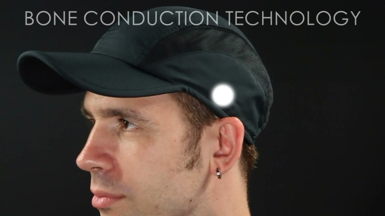 Bluetooth Bone Conduction Headset in a Hat