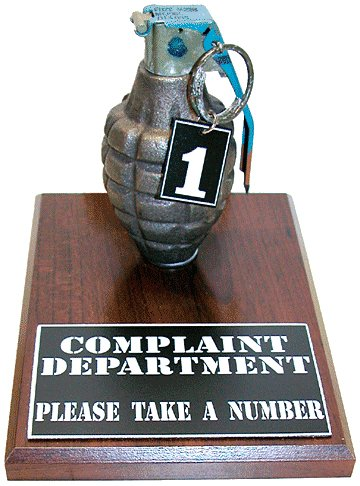 Complaint Department Grenade Take A Number