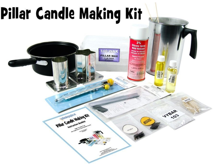 Complete, Scented Pillar Candle Making Kit
