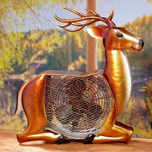 Deco Breeze Deer Figurine Fan