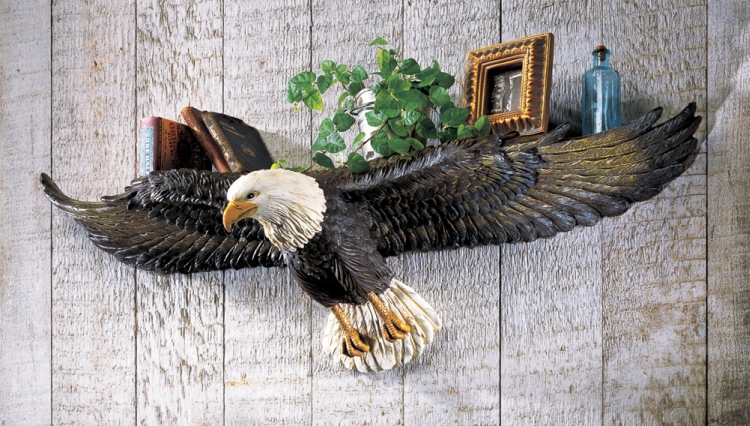 Eagle Sculpted 3D Wall Shelf