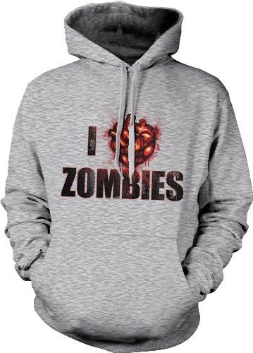 I Love Zombies Mens Horror Sweatshirt