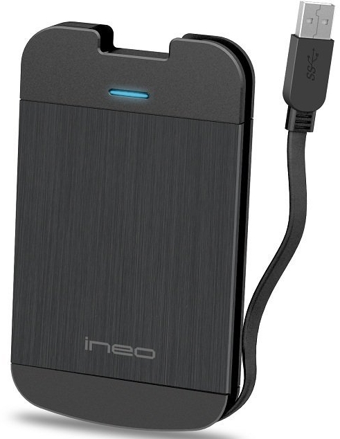 Ineo Technology External Hard Drive Enclosure with Built-In USB 3.0 Cable