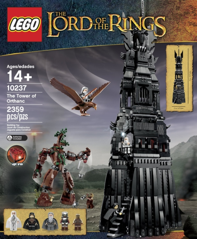 LEGO Lord of the Rings 10237 Tower of Orthanc Building Set