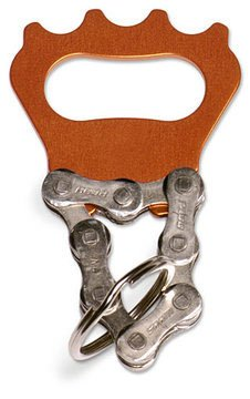 LRecycled Bicycle Chain Key Chain Bottle Opener