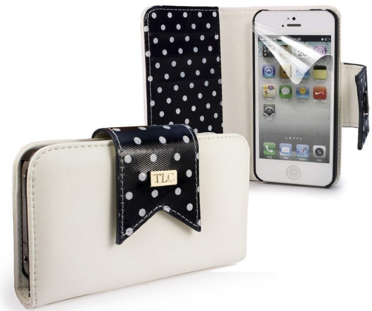 Ladies Fashion faux leather purse for Apple iPhone 5c