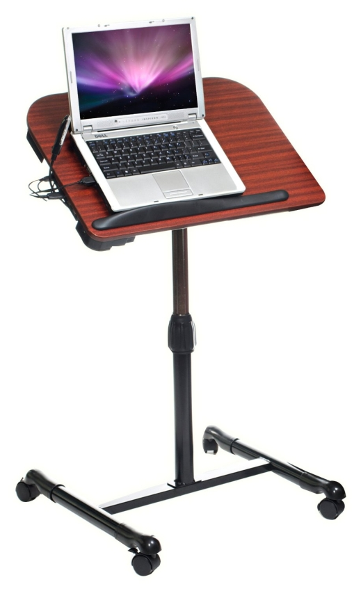 Laptop Cart with Fan, Light and 3 USB Ports