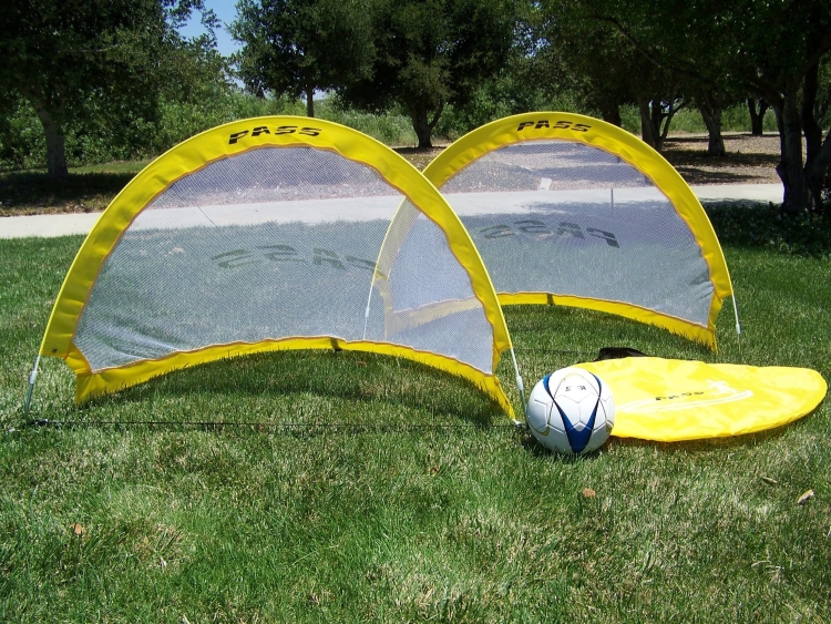 Pass 4 Footer Foldable Portable Training Soccer Goal Pair