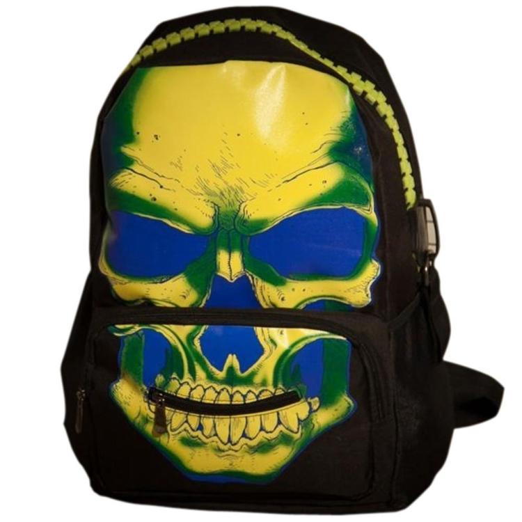 Punk Noctilucent Skull Backpack School