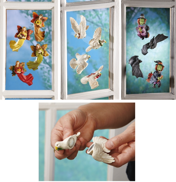 Seasonal Window Magnet Decorations