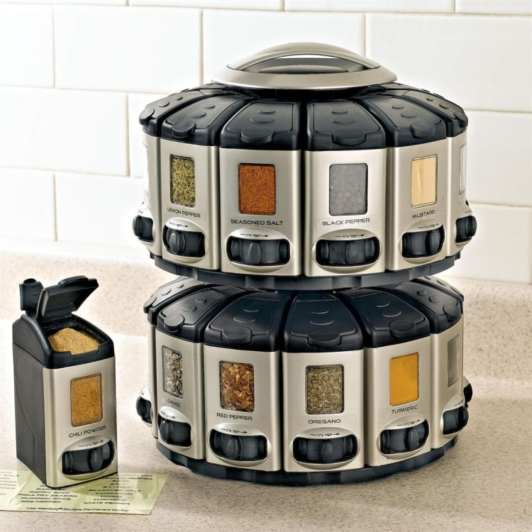Space-Saver Spice Carousel With Built- In Measures
