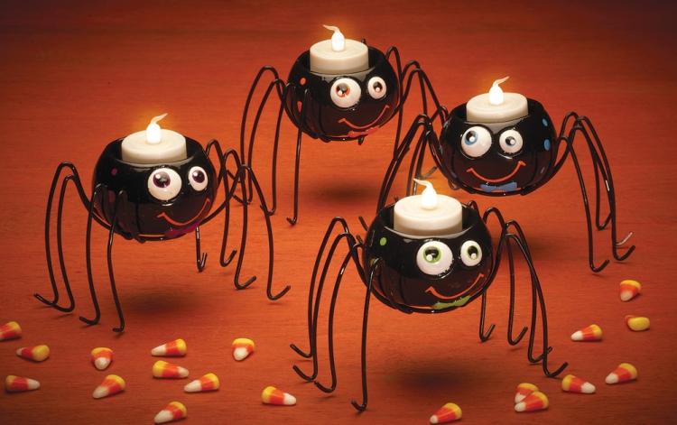 Spider Halloween Tealight Holders