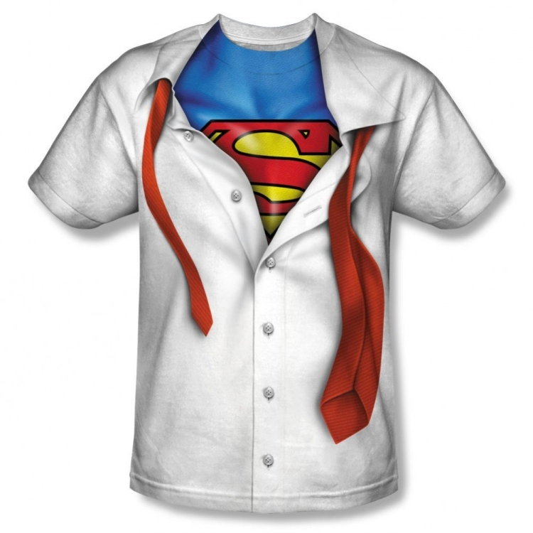 Superman Sublimation Print Polyester Adult T-shirt