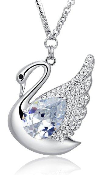 Swarovski Elements Crystal Necklace Long Chain