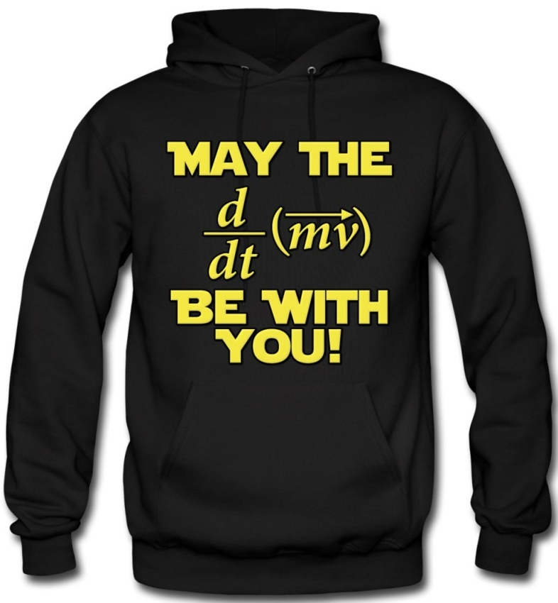 The Force Be With You Physics Geek Hoodie