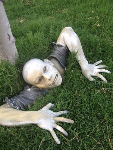 The Zombie of Montclaire Moors Sculpture
